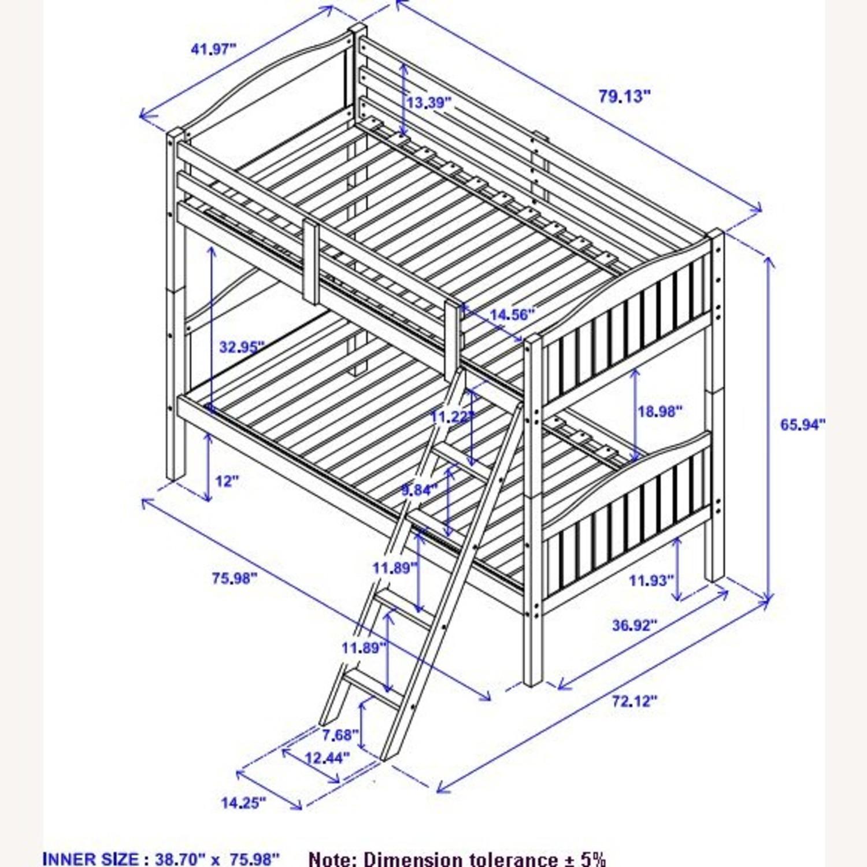 Bunk Bed In Espresso Finish W/ Guardrails - image-5