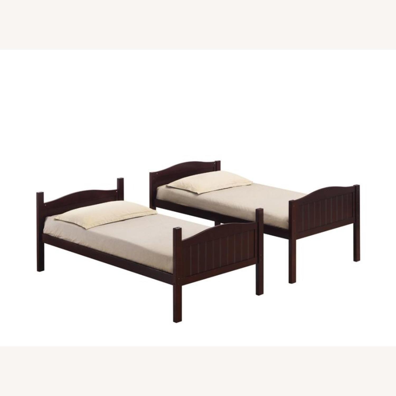 Bunk Bed In Espresso Finish W/ Guardrails - image-2