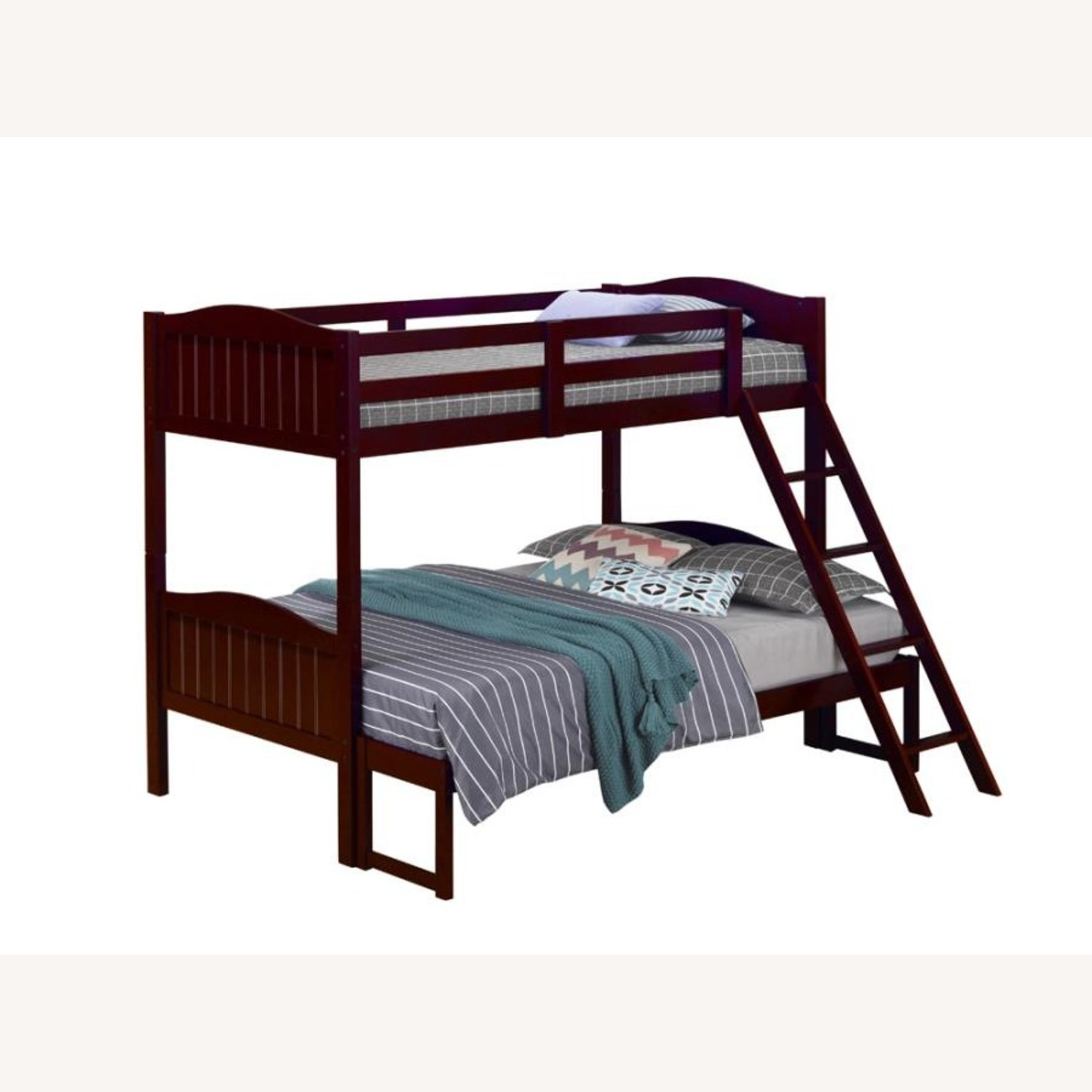 Twin-Over-Full Bunk Bed In Espresso Finish - image-0