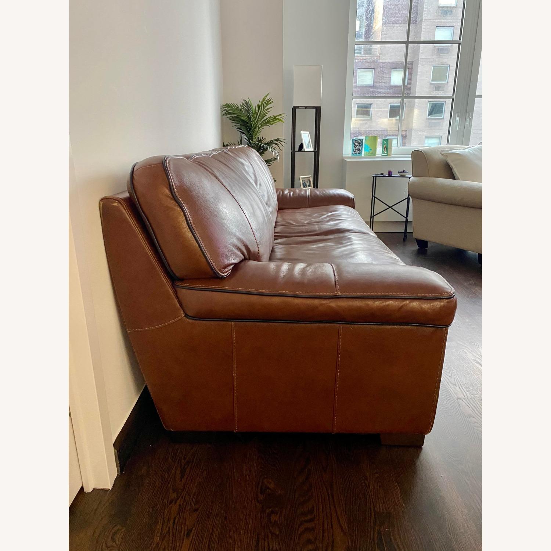 Macy's Leather Sofa - image-2