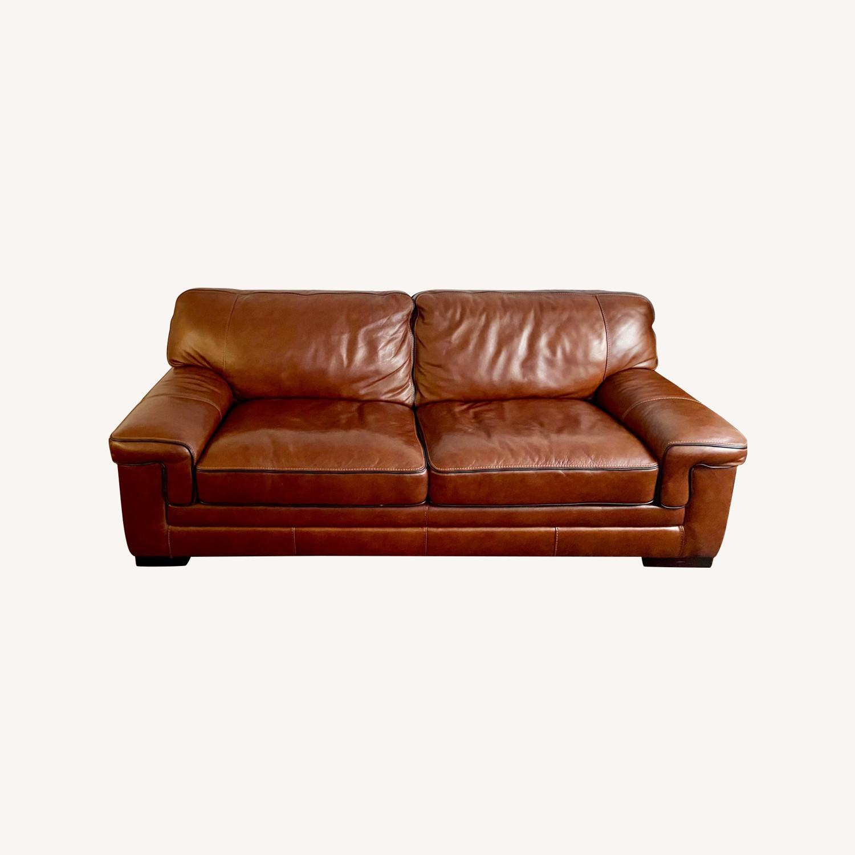 Macy's Leather Sofa - image-0