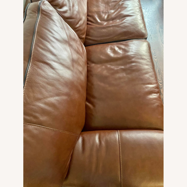 Macy's Leather Sofa - image-3