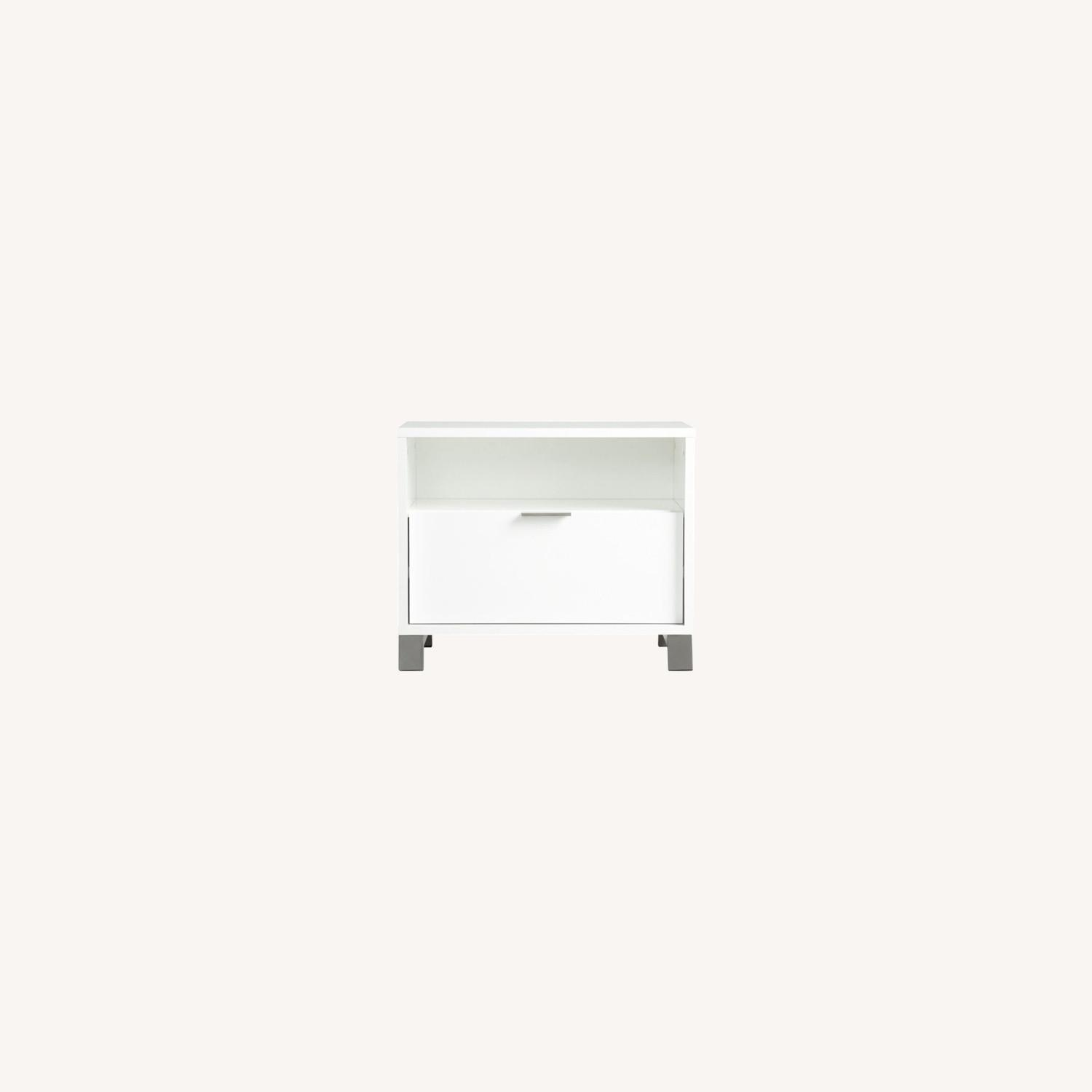 CB2 Matchbox Nightstand in White Lacquer - image-0
