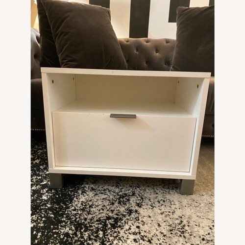 Used CB2 Matchbox Nightstand in White Lacquer for sale on AptDeco