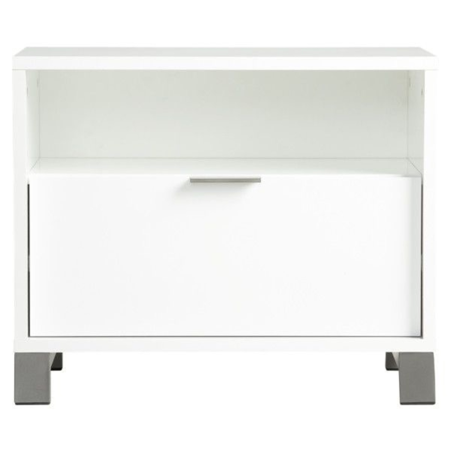 CB2 Matchbox Nightstand in White Lacquer - image-1