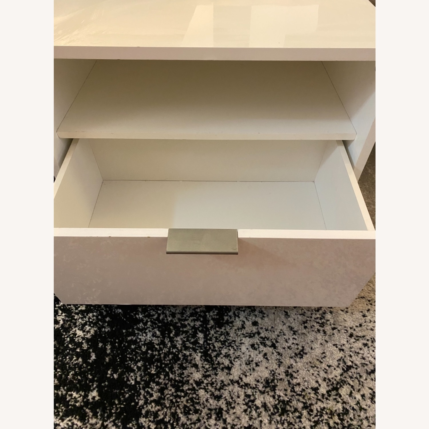 CB2 Matchbox Nightstand in White Lacquer - image-9