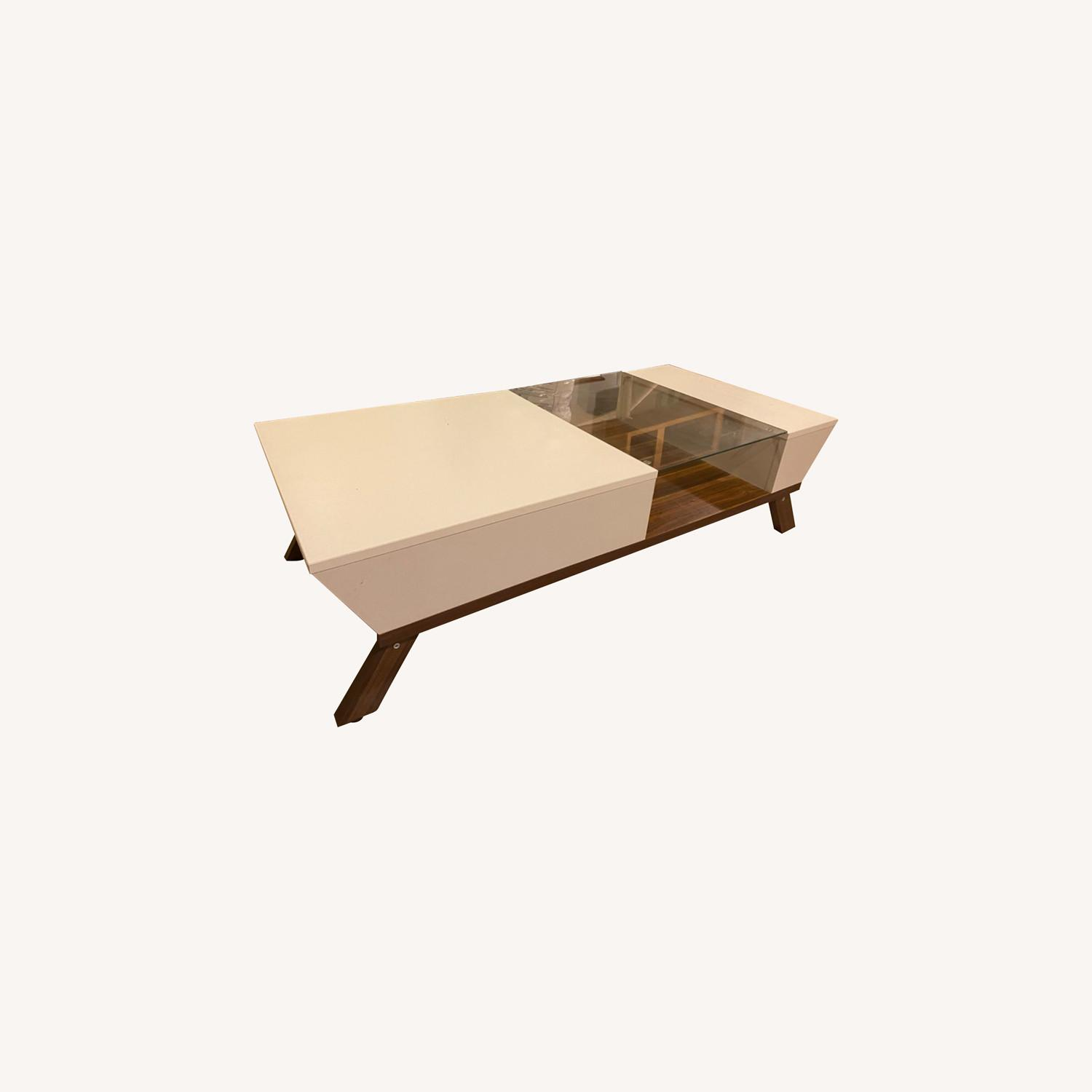 Mercury Row White and Brown Coffee Table - image-0