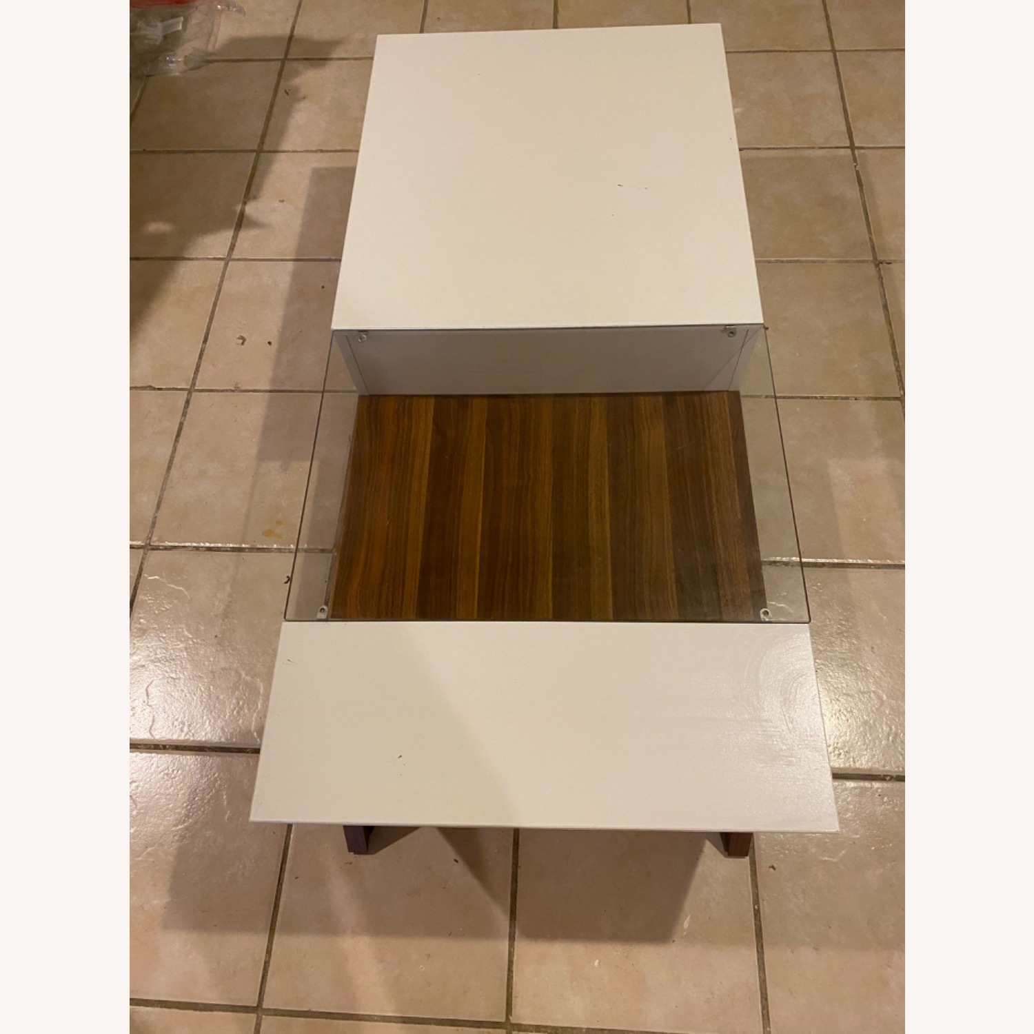 Mercury Row White and Brown Coffee Table - image-1