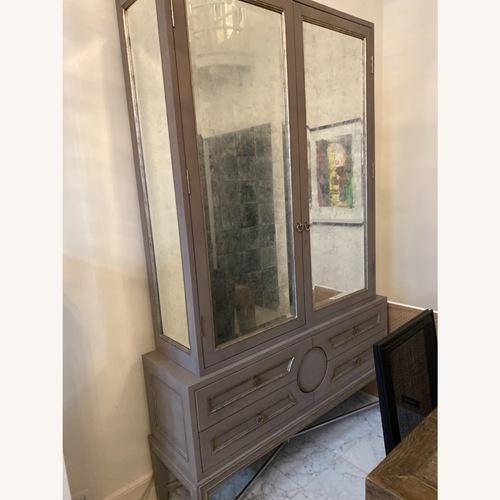 Used Grey Wood with Mirror Bureau for sale on AptDeco