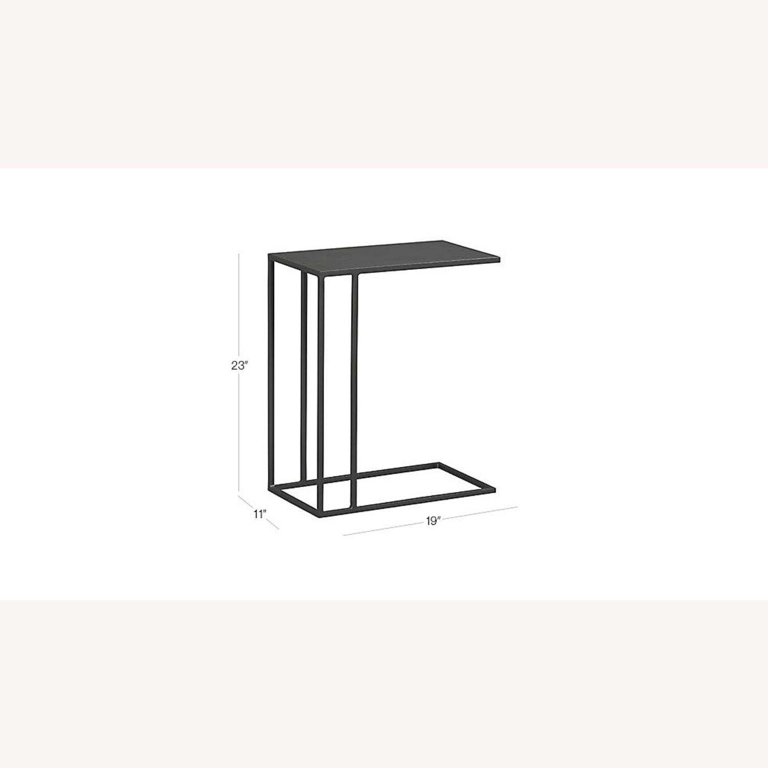 CB2 Mill C Side Table - image-3
