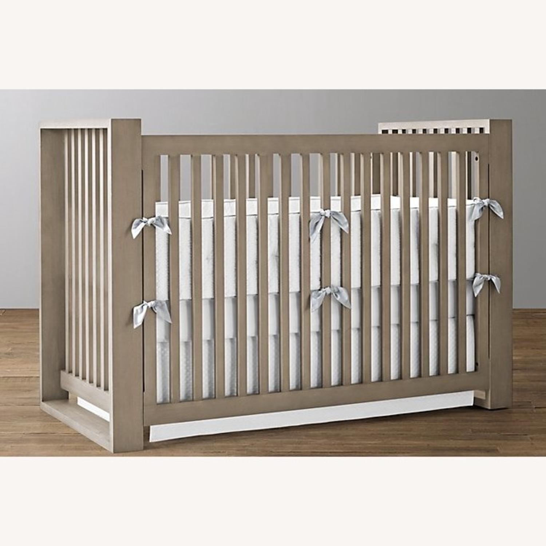 Restoration Hardware Wyler Grey Wood Crib with Storage - image-0