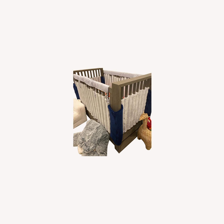 Restoration Hardware Wyler Grey Wood Crib with Storage - image-5