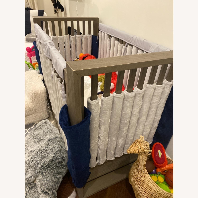 Restoration Hardware Wyler Grey Wood Crib with Storage - image-2