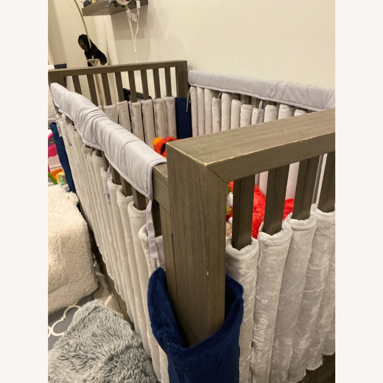 Restoration Hardware Wyler Grey Wood Crib with Storage - image-4