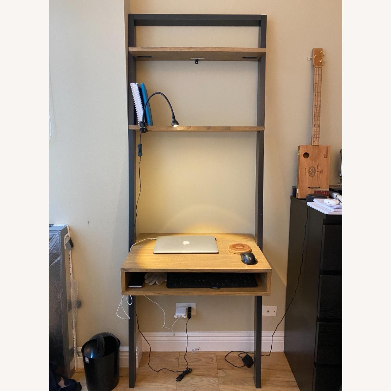 West Elm Ladder Shelf Desk - image-0