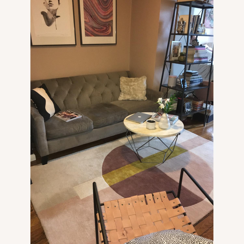 Macy's Chloe Velvet Sofa in Granite Grey - image-1
