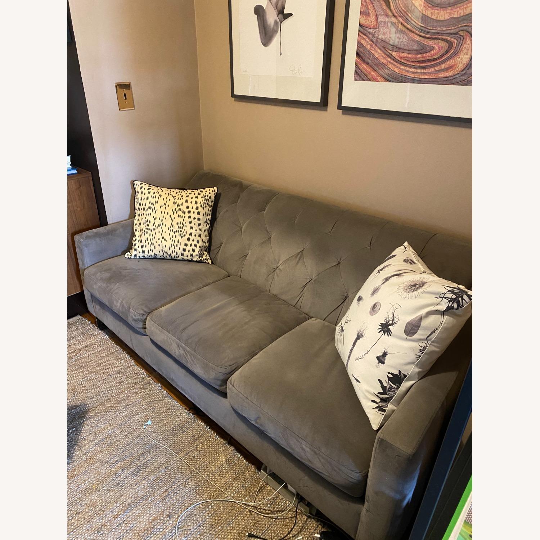 Macy's Chloe Velvet Sofa in Granite Grey - image-4