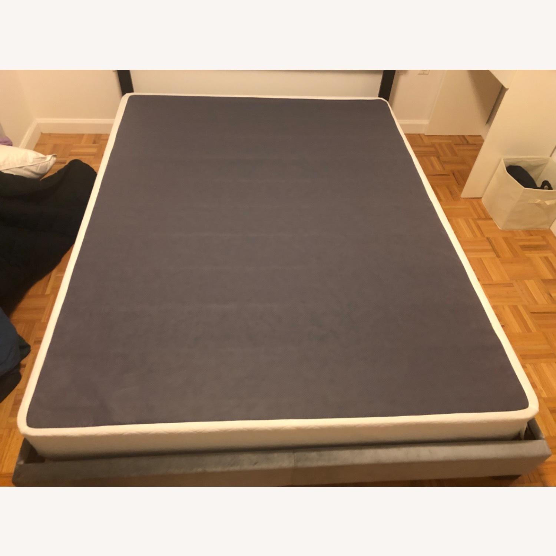 Wayfair Grey Velvet Bed - image-4