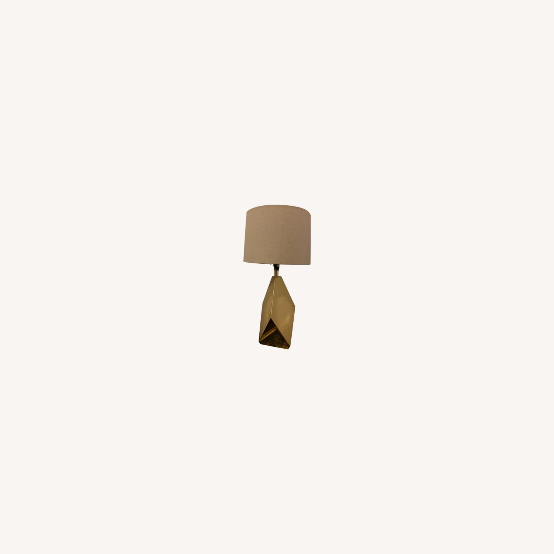Target Nate Berkus Gold Faceted Table Lamp - image-0
