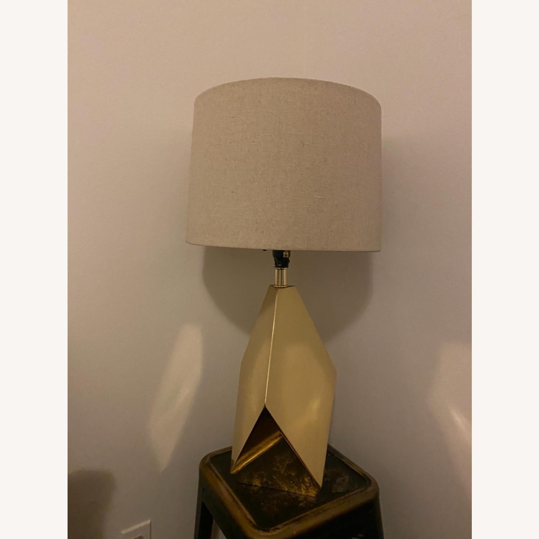 Target Nate Berkus Gold Faceted Table Lamp - image-4