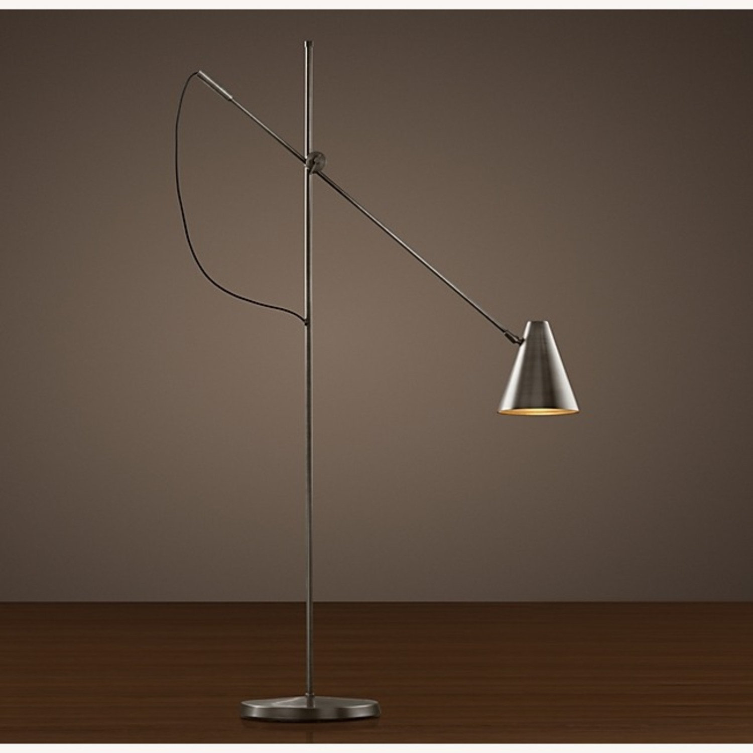 Restoration Hardware 20th C. Torpedo Task Floor Lamp - image-2