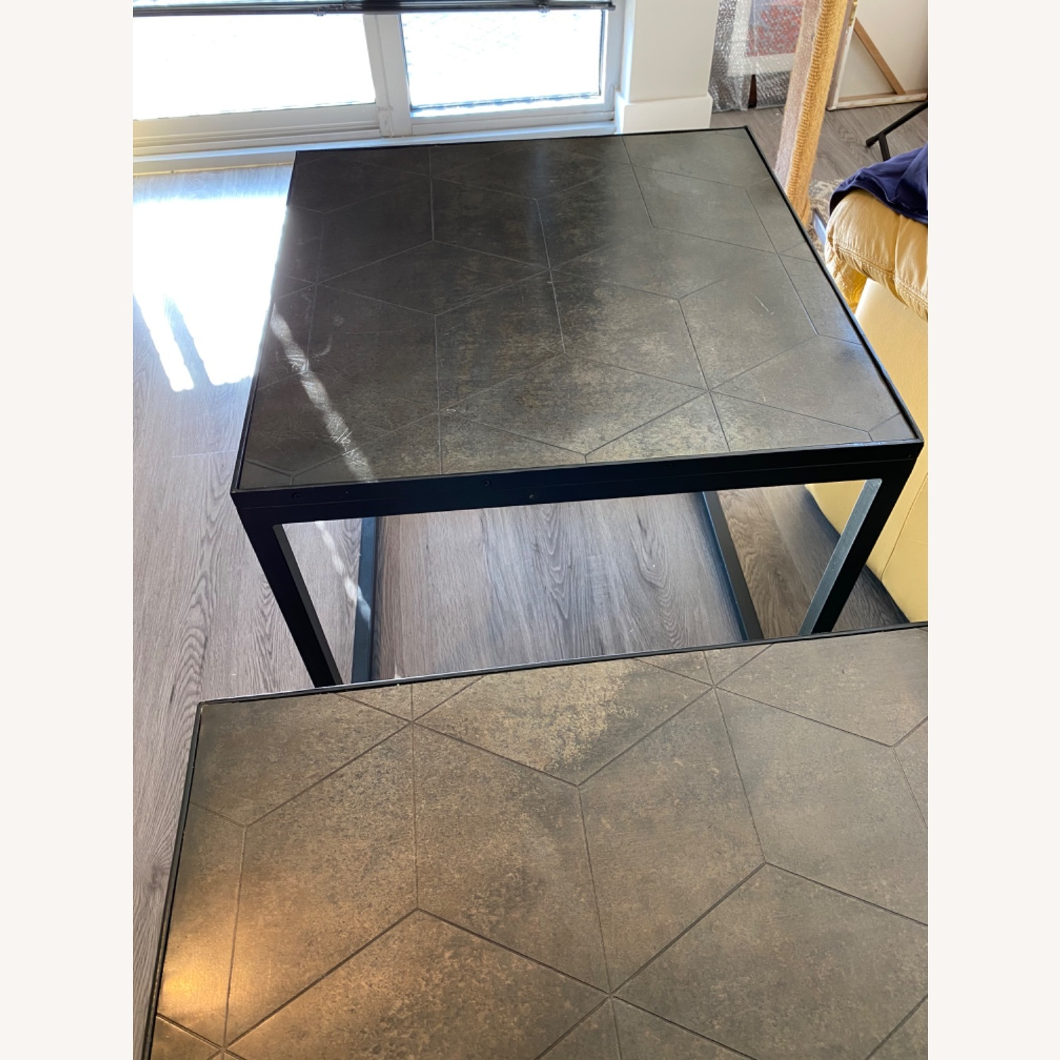 Restoration Hardware Metal Parquet Side Table - image-8