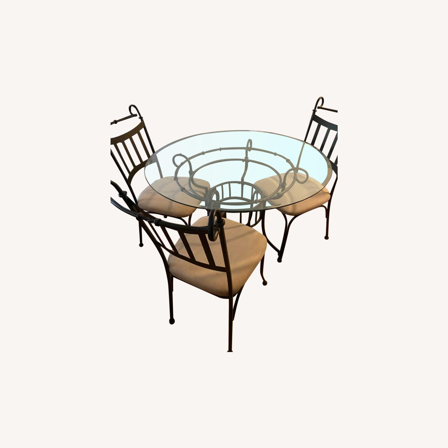 Glass Table and Three Chair Dining Set - image-0
