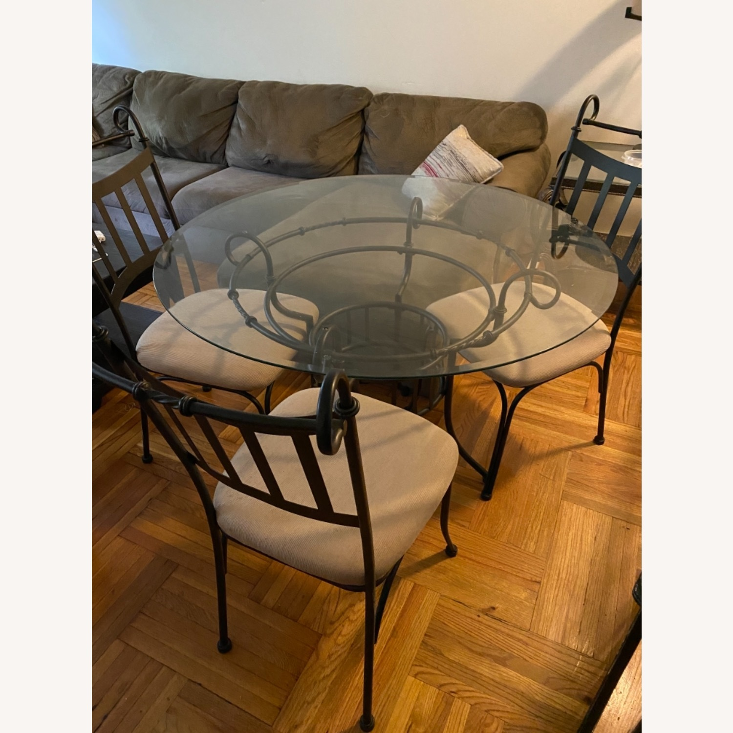 Glass Table and Three Chair Dining Set - image-1