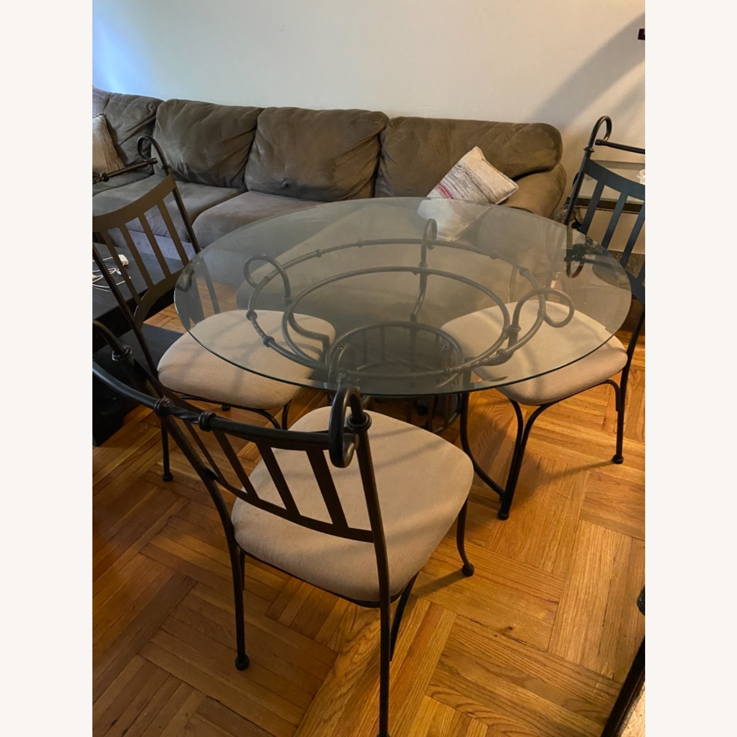 Glass Table and Three Chair Dining Set - image-2
