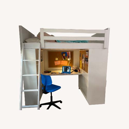 Used Room & Board Moda Loft Bed with Desk for sale on AptDeco