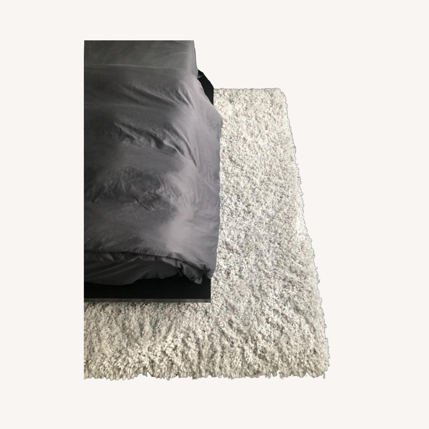 West Elm Frost Gray Cozy Plush Rug - image-0