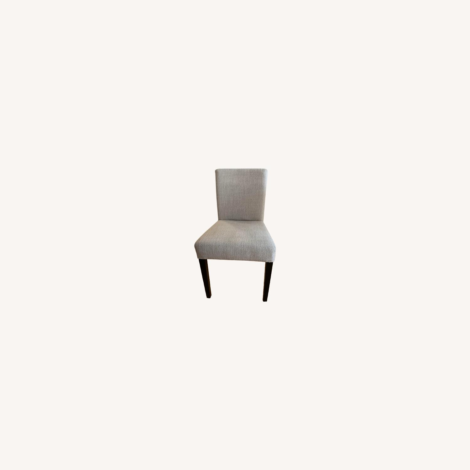 Crate & Barrel Lower Pewter Upholstered Dining Chair - image-0