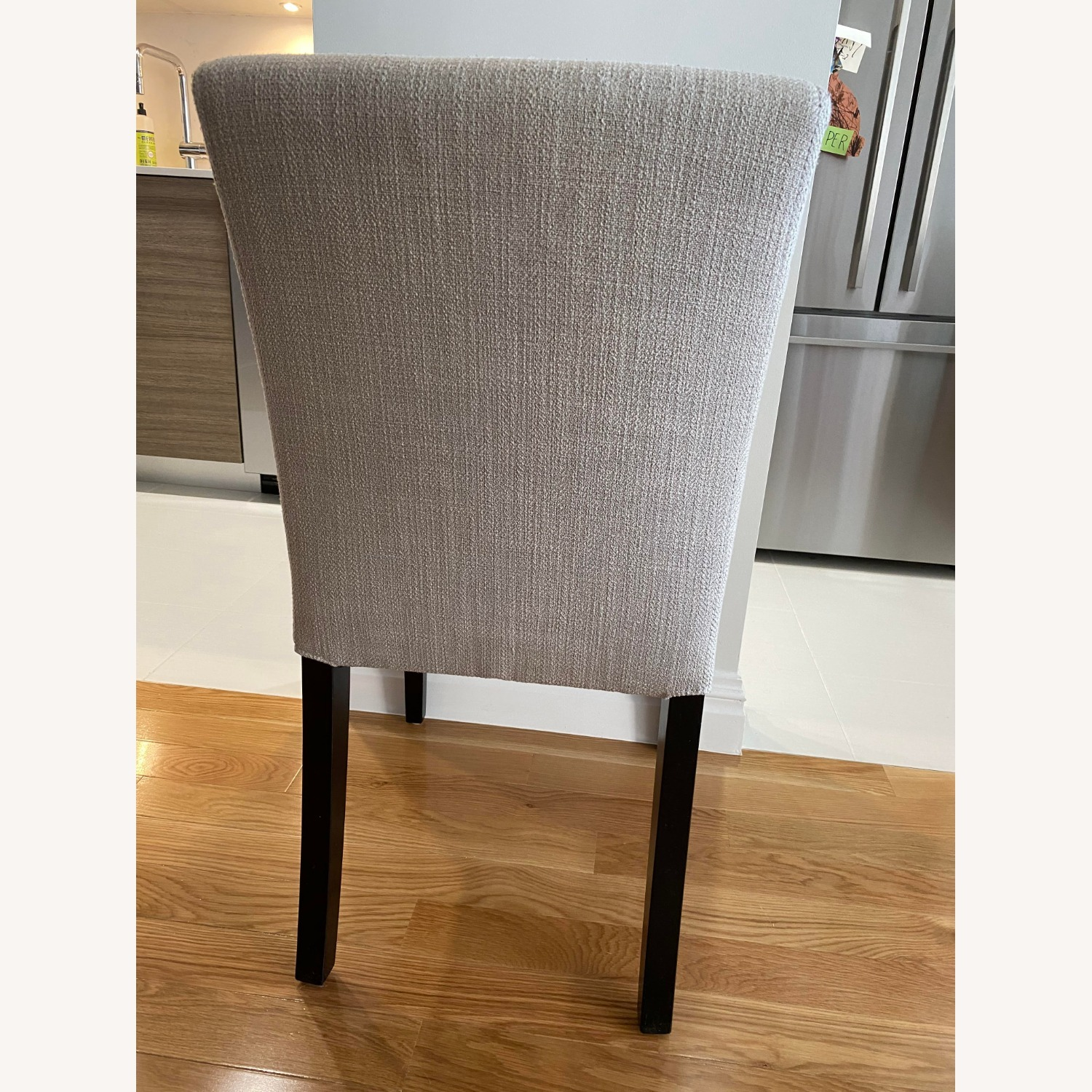 Crate & Barrel Lower Pewter Upholstered Dining Chair - image-3