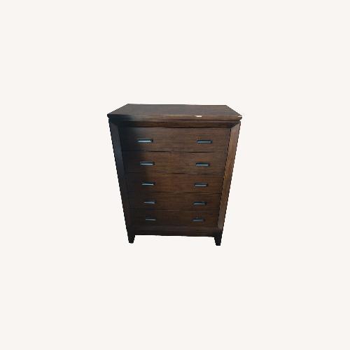 Used Wood Hoot Judkins 5 Drawer Dresser Chest for sale on AptDeco