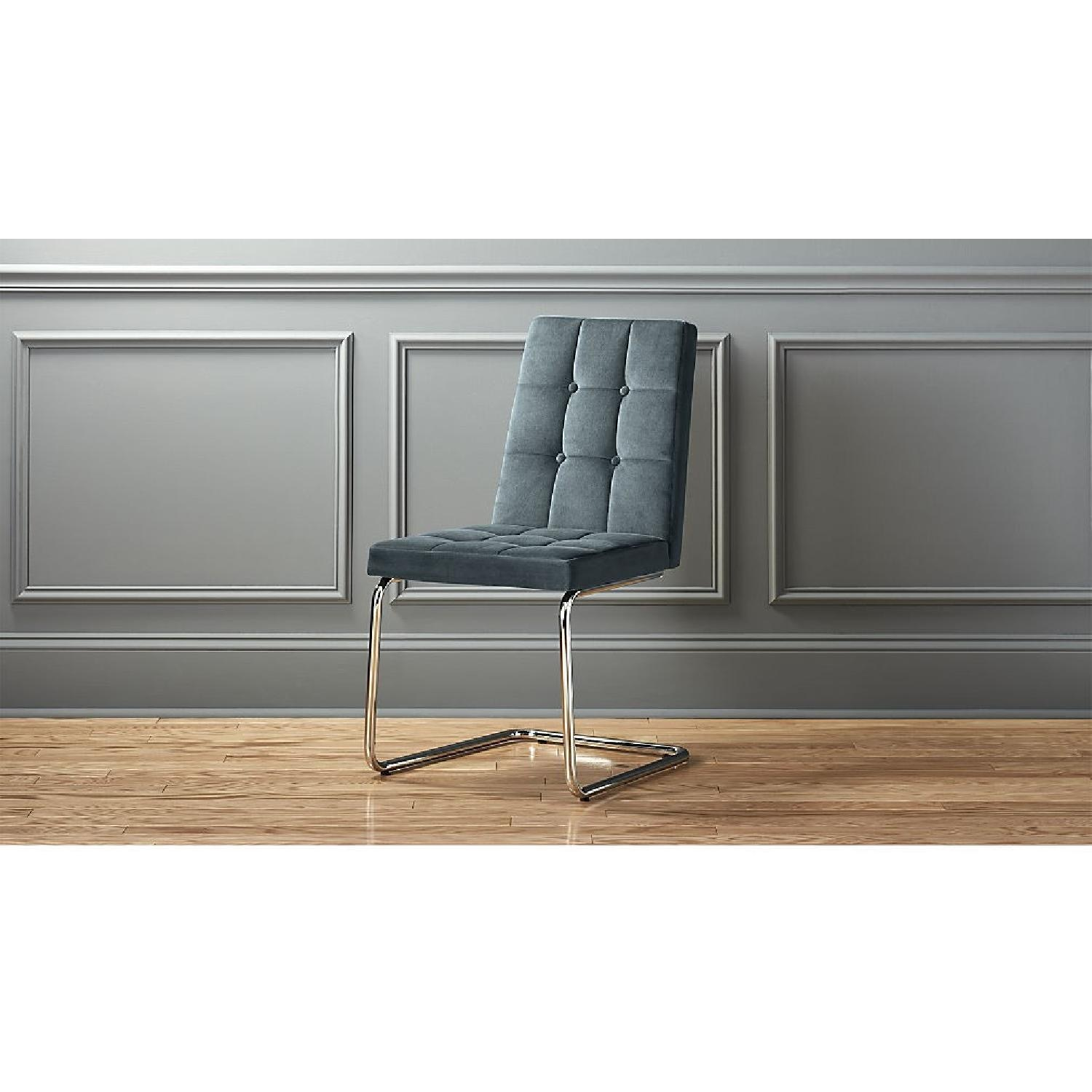 CB2 Roya Chair Slate Blue - image-1