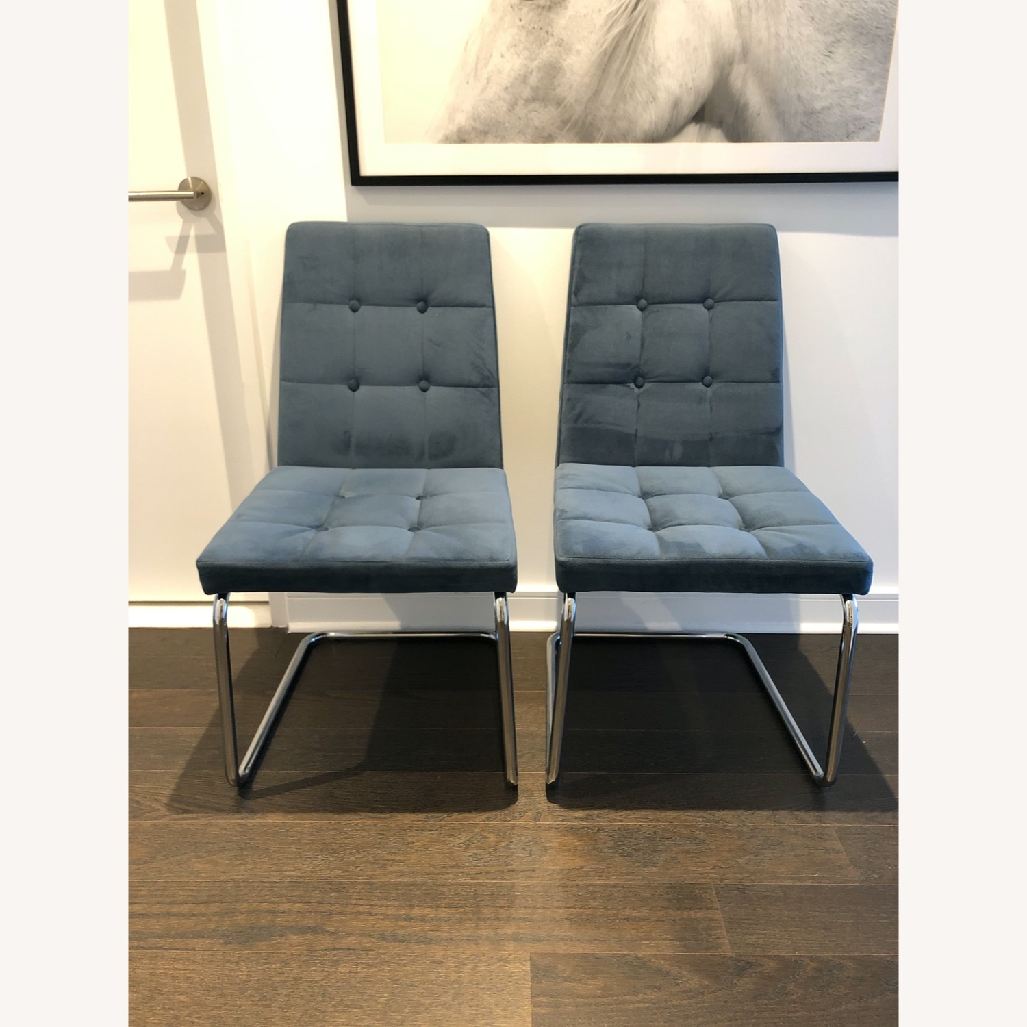 CB2 Roya Chair Slate Blue - image-2