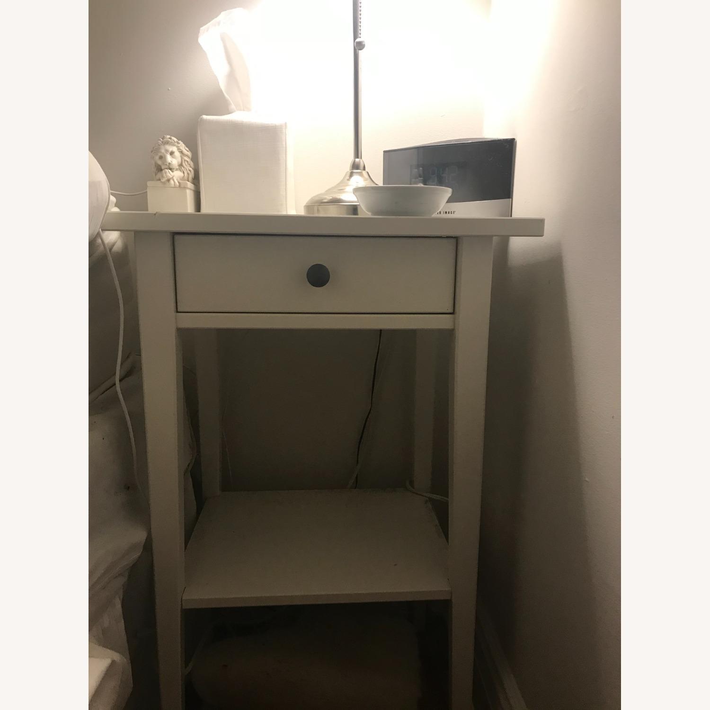 IKEA Hemnes White Desk and Nightstand - image-0