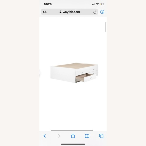 Used Wayfair Platform Bed w Drawers for sale on AptDeco