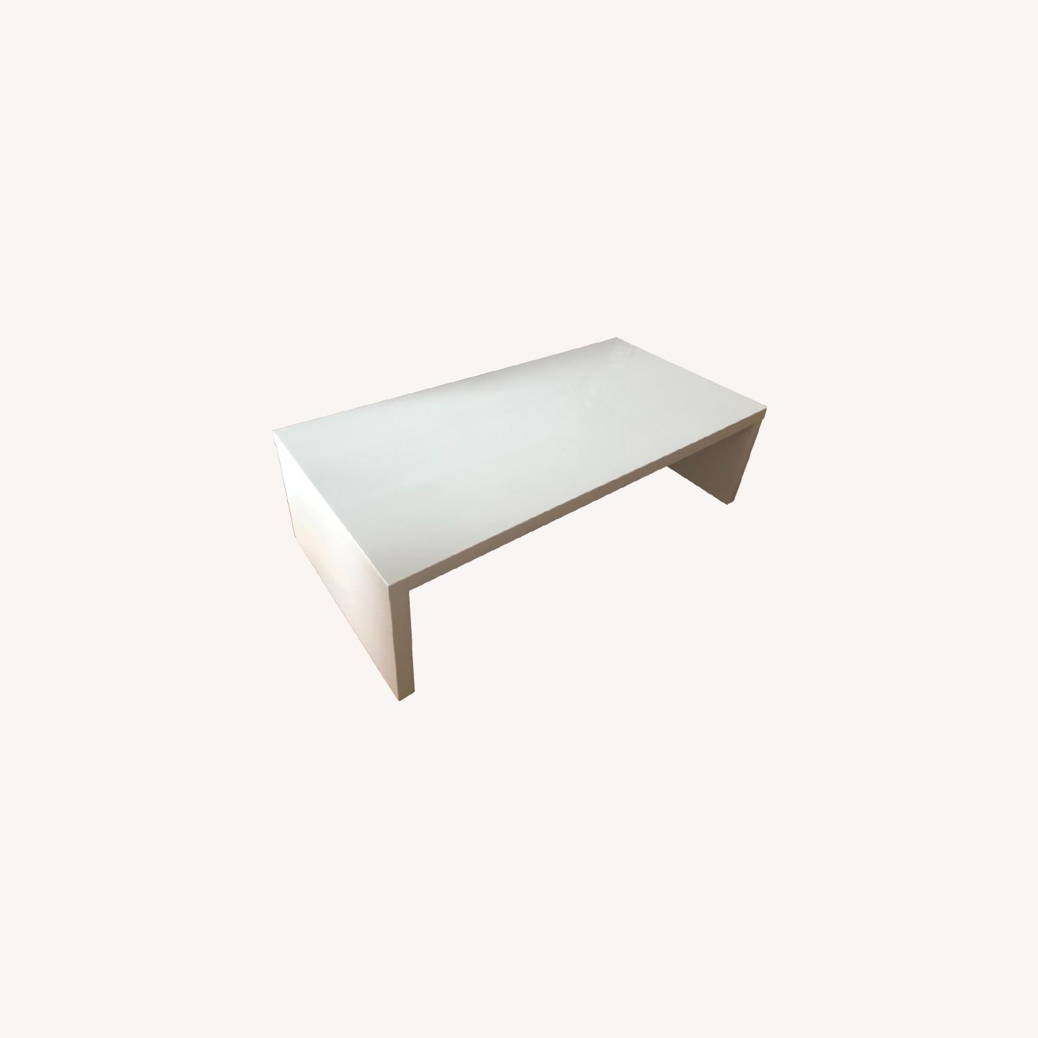 White Lacquer Coffee Table - image-0