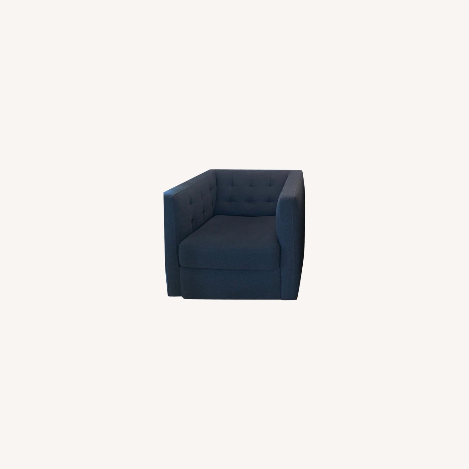 West Elm Swivel Chair - image-0