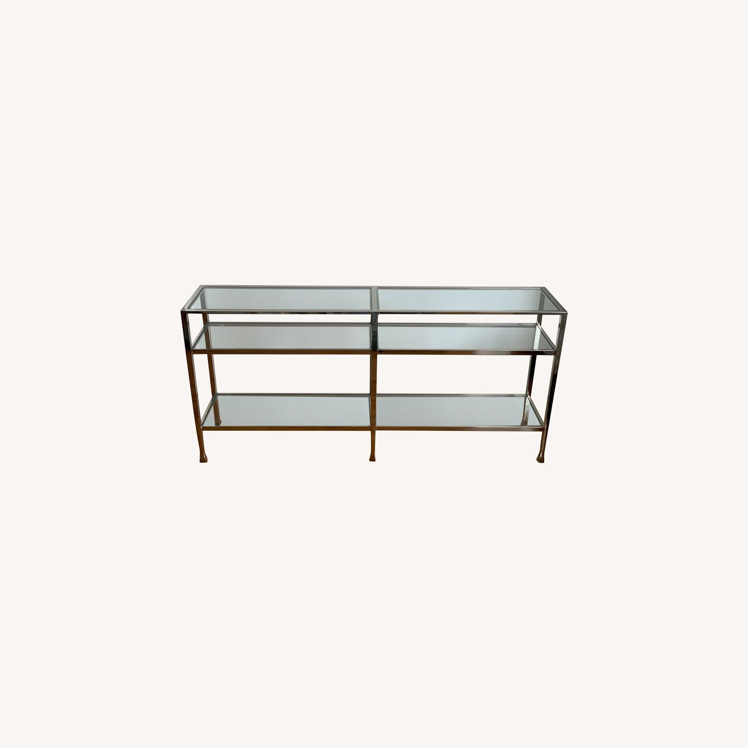 Pottery Barn Nickel Console Table - image-0
