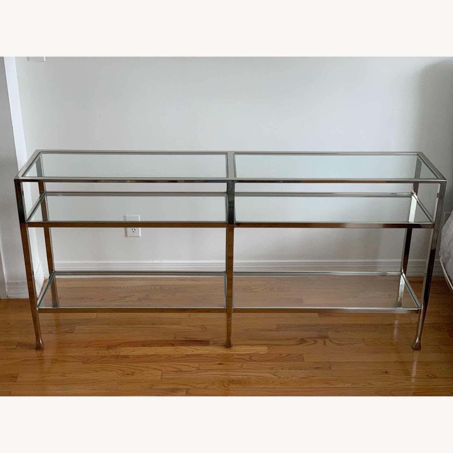 Pottery Barn Nickel Console Table - image-1