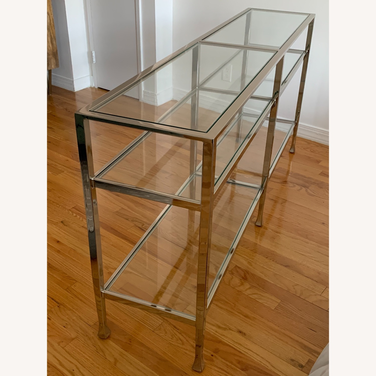 Pottery Barn Nickel Console Table - image-3
