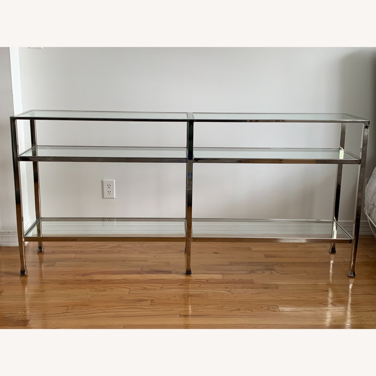 Pottery Barn Nickel Console Table - image-2