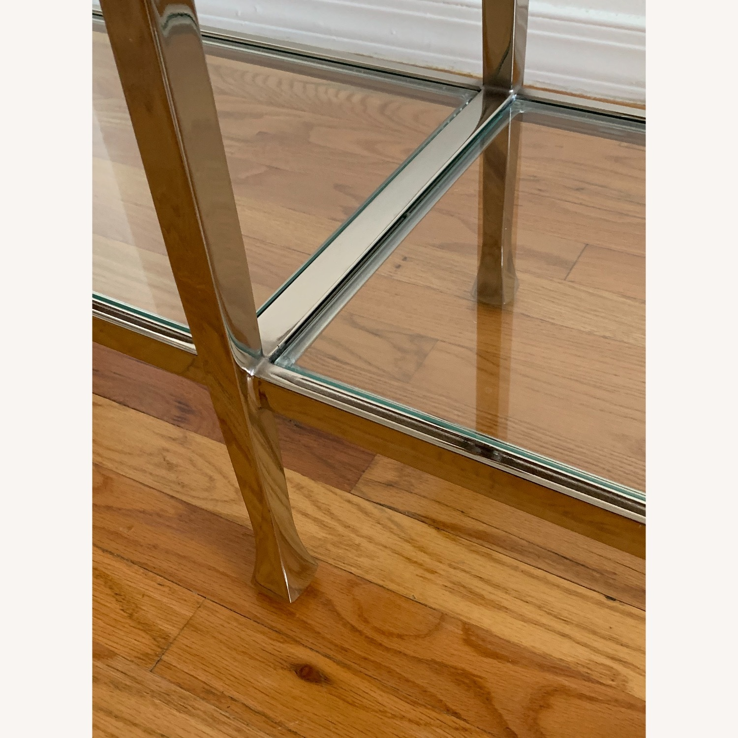 Pottery Barn Nickel Console Table - image-5