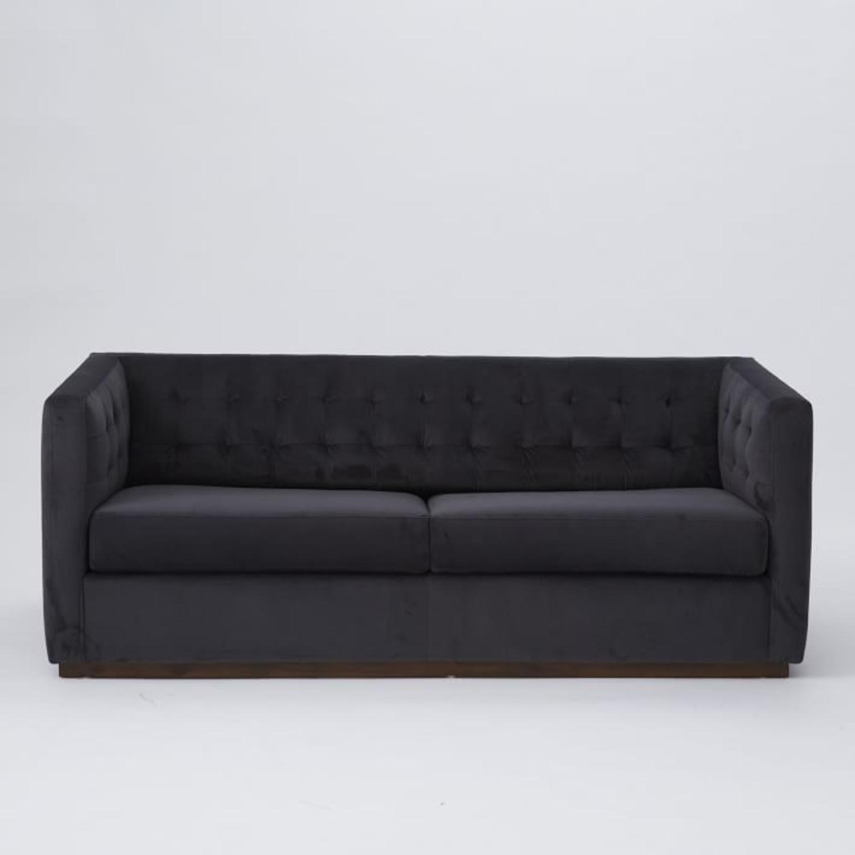 West Elm Rochester Sofa in Performance Velvet - image-1