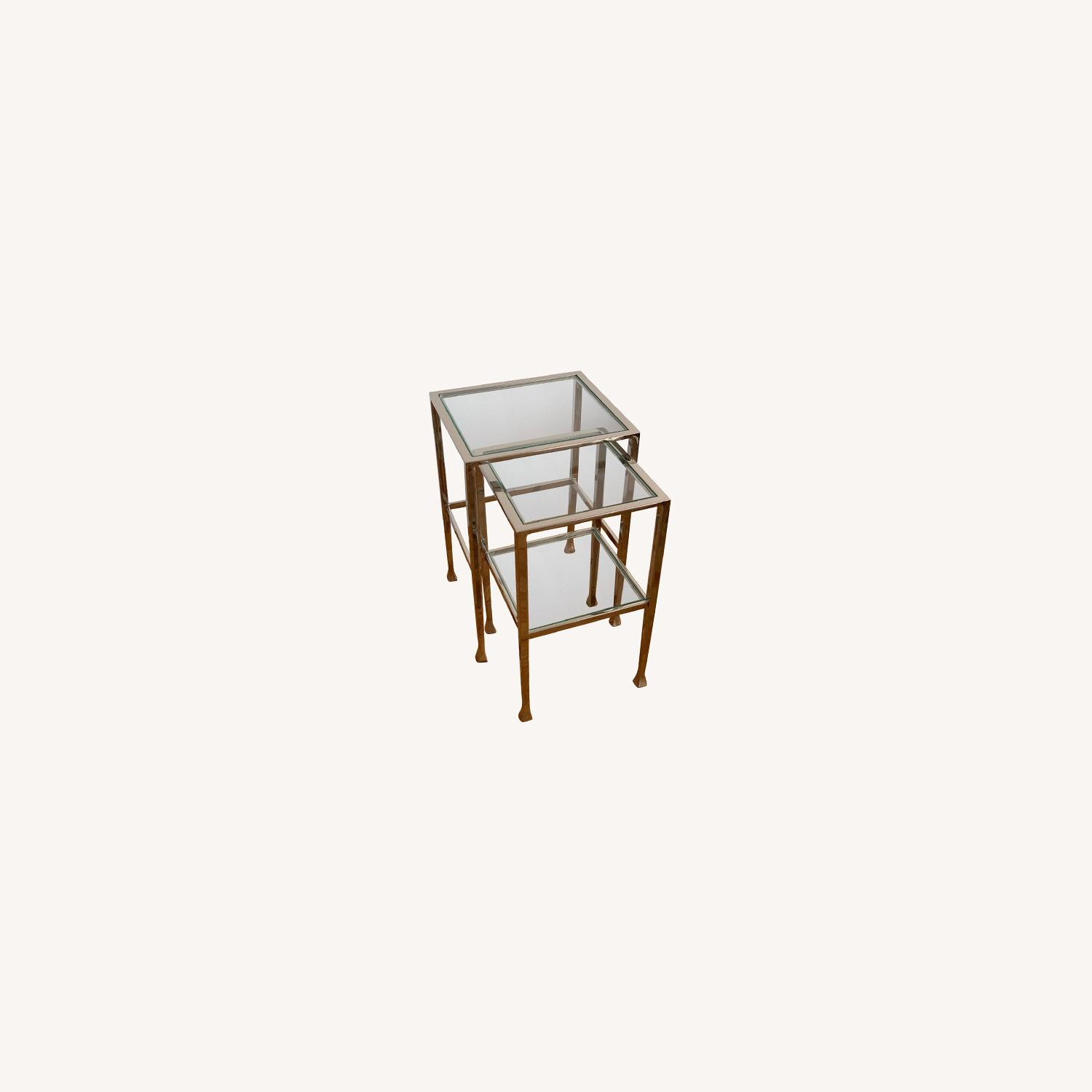Pottery Barn Nickel End Tables - image-0