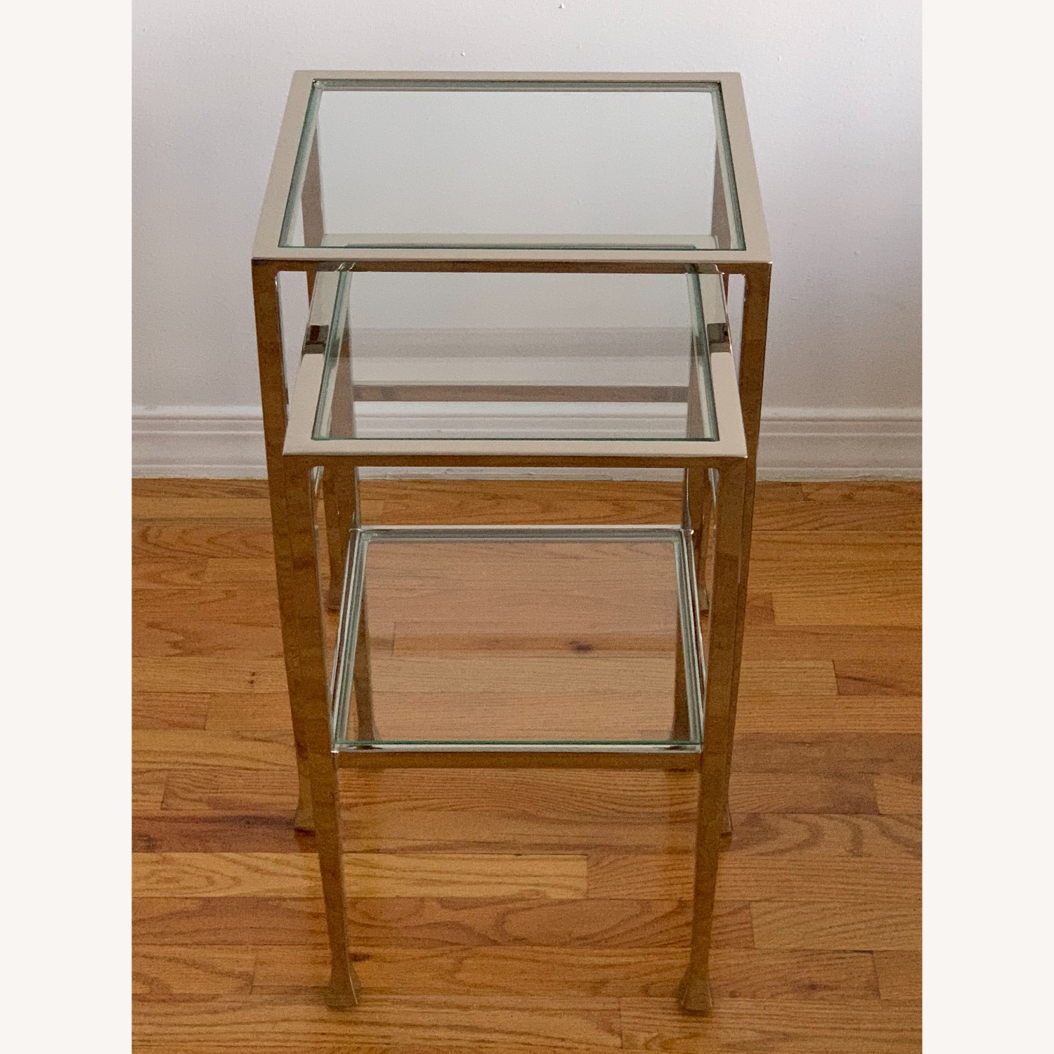Pottery Barn Nickel End Tables - image-4