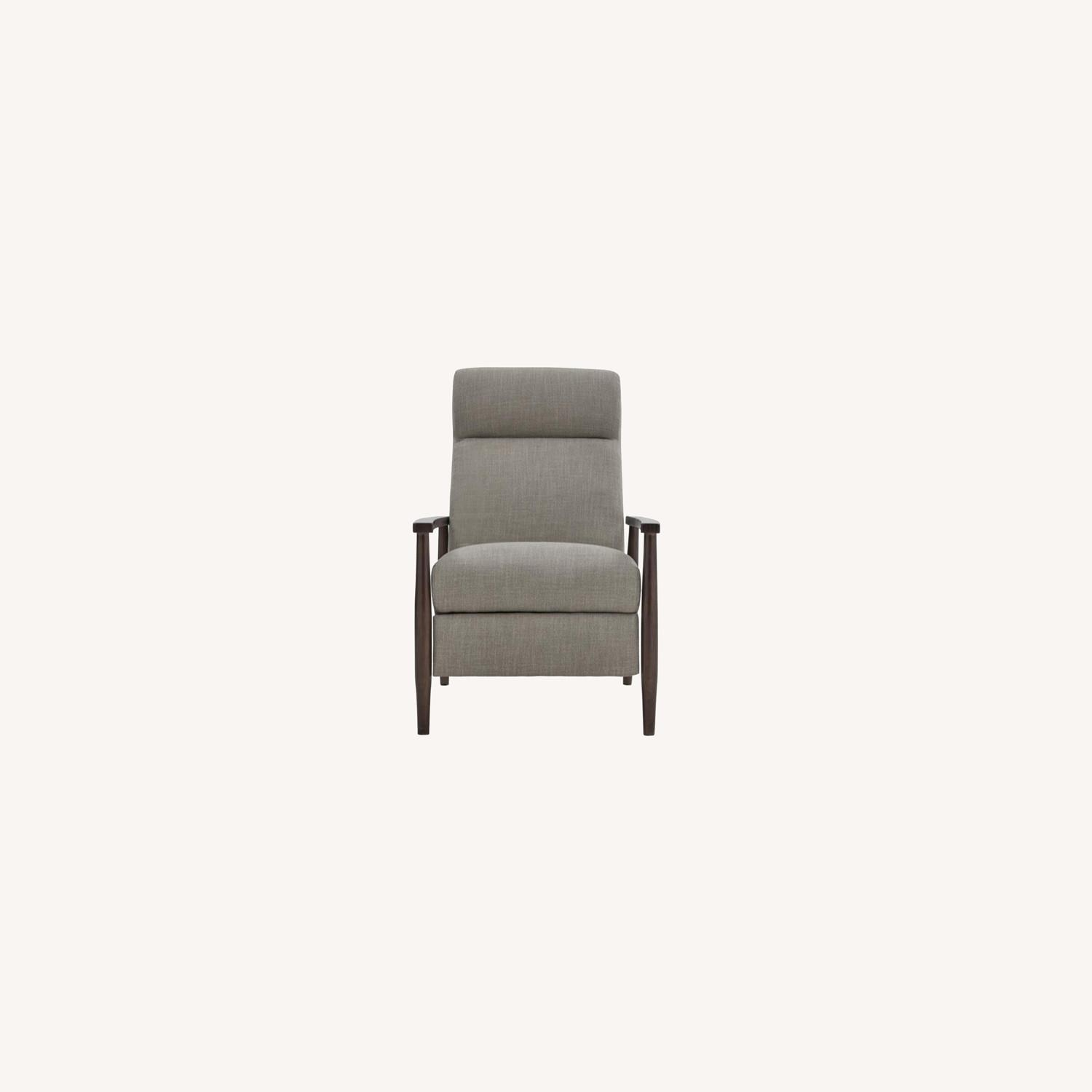 Push-Back Recliner In Cream Performance Fabric - image-7