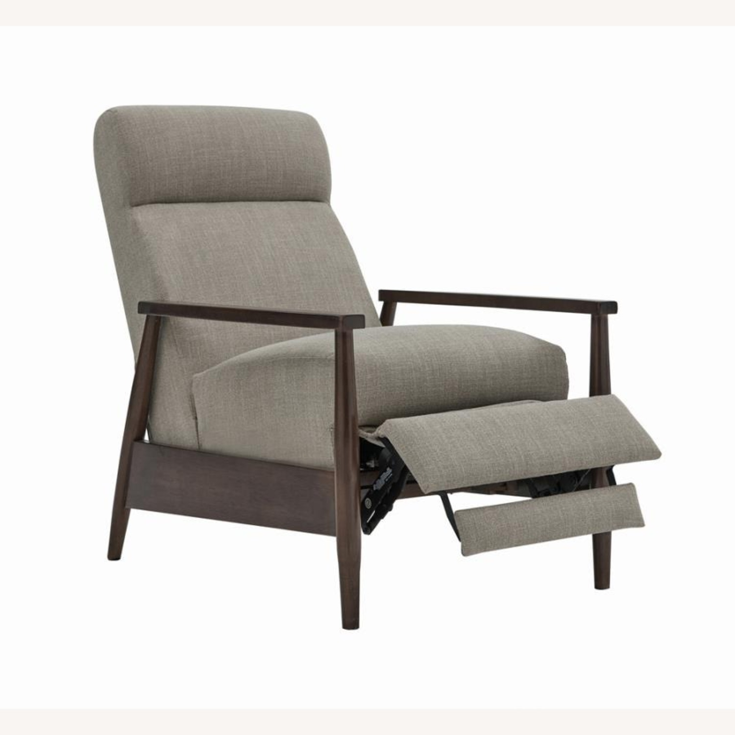 Push-Back Recliner In Cream Performance Fabric - image-1